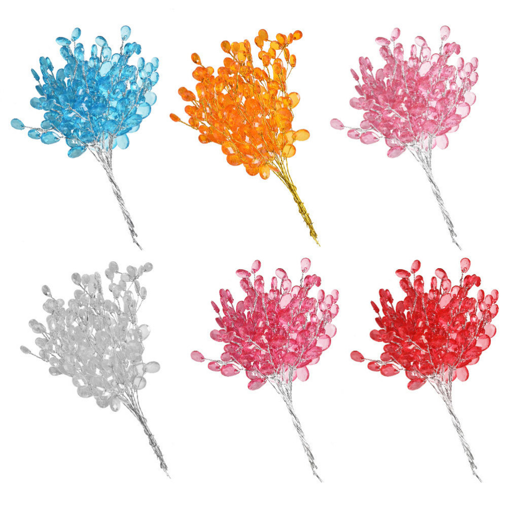 10pcs mini wedding party flower bouquet decoration acrylic for Artificial decoration