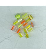 American Handmade Contemporary Cane Glass Beads... - $9.00