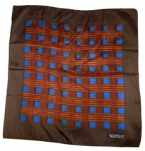 Givenchy Silk Scarf Nouvelle Boutique Brown Blue Orange 22 by 23 Inches - £26.42 GBP