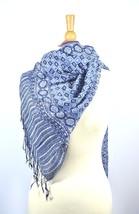 Silk Crepe Scarf Sarong Resort Wear  Royal Blue... - $20.38