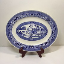 "Oval Platter Blue Willow Homer Laughlin 12"" x 9.5"" H63N4 - $14.50"