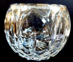 """Pretty Crystal round bowl vase 3.75"""" lotus petals design - $34.65"""