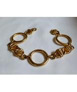 "Monet Gold Tone Metal marine nautical anchor link Bracelet 7.75"" long - $24.75"
