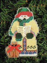 Gloria Snow Folks Ornament kit christmas perforated paper cross stitch kit - $5.40