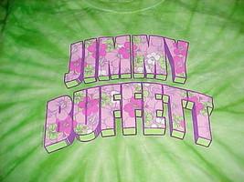 Jimmy Buffett Workin' N' Playin' Tour 2015 Tie Dye Green Pink Women T-shirt M - $24.74