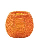 Orange Beaded Candleholder - $10.95