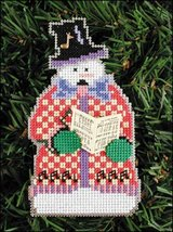 Harold Snow Folks Ornament kit christmas perforated paper cross stitch kit - $5.40