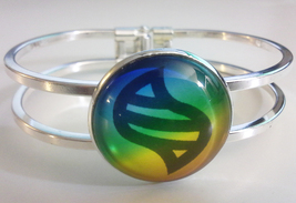 Pokemon Mega Evolution Stone Bangle Bracelet with 25 mm Glass Stone Go - $25.00