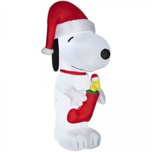 Outdoor Christmas Decoration Inflatable Snoopy Decor Accessories Items P... - $125.18