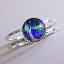 Legend of Dragoon Moon Gem Signet Bangle Bracelet with 25 mm Glass Stone  - $25.00