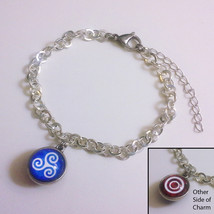 Teen Wolf Alpha Silver Plated Charm Bracelet with 14mm Double-Sided Glas... - $26.00