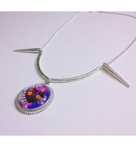 Legend of Zelda, Majora's Mask Spiked Silver Necklace - $25.00