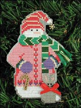 Candy Snow Folks Ornament kit christmas perforated paper cross stitch kit - $5.40