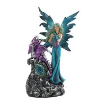 Gothic Fairy and Purple Dragon with Lighted Gemstone - $24.99