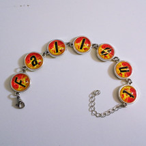 Fallout 4 Silver Metal Bracelet with 14 mm Glass Stones - $38.00
