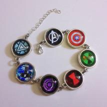 Marvel Avengers Silver Metal Bracelet Captain America, Iron Man, Thor, Hulk - $38.00