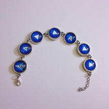 Legend of Zelda, Ocarina of Time Song of Storms Silver Metal Rain Bracelet - $38.00