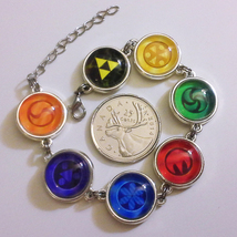 Legend of Zelda, Ocarina of Time Sage Medallions Triforce Silver Metal B... - $38.00