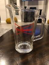 Vintage Budweiser Bowtie Glass Beer Pitcher 60 oz - $15.00