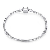5 Piece Lot 925 Sterling Silver Refined Bracelet Bangle European Bead Pa... - $19.59
