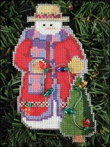 Edison Snow Folks Ornament kit christmas perforated paper cross stitch kit - $5.40