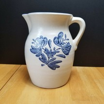 Pfaltzgraff Yorktowne Pitcher White with Blue Floral 8 Inch - $16.83
