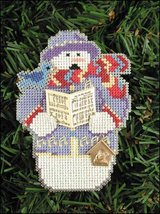 Carole Snow Folks Ornament kit christmas perforated paper cross stitch kit - $5.40