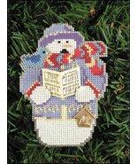 Carole Snow Folks Ornament kit christmas perforated paper cross stitch kit - $5.40