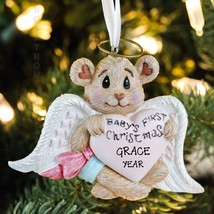 Baby Girl 1st Christmas Bearly Angel Heart Pers... - $12.82