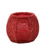 Cherry Red Beaded Candleholder  - $10.95