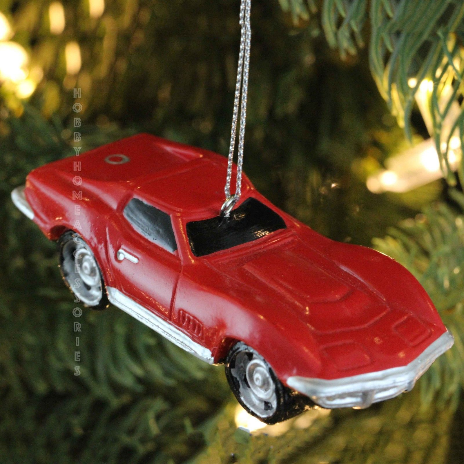 CHEVROLET® RED CORVETTE CAR Personalized Christmas Tree