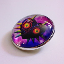 The Legend of Zelda, Majora's Mask 1-inch Glass Pin Button Brooch - $15.00