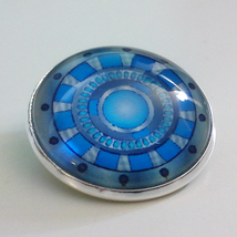 Marvel Iron Man Tony Stark Arc Reactor 1-inch Glass Pin Button Brooch  - $15.00