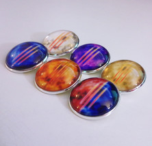 Set of 6 Diablo 3 Primary Resource Character 1-inch Glass Pin Button Bro... - $40.00