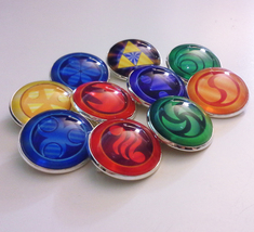 Set of 10 Legend of Zelda, Ocarina of Time 1-inch Glass Pin Button Brooc... - $45.00
