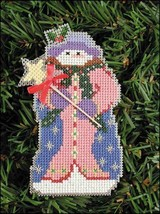 Millie Snow Folks Ornament kit christmas perforated paper cross stitch kit - $5.40