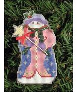 Millie Snow Folks Ornament kit christmas perforated paper cross stitch kit - $5.40