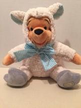 "Disney 2016 Easter Lamb Winnie The Pooh 11"" Plush Sheep Authentic Toy Usa - $19.33"
