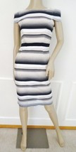Nwt ABS Allen Schwarts Woven Cocktail Party Sheath Dress Sz 0 Ivory Blac... - $98.95