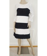Nwt Jessica Simpson Cocktail Party Lace Shift Dress Sz 6  ivory Black $148 - $69.25