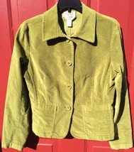 TALBOTS Green Velvet Velour WOMENS BLAZER ~SIZE 6 Work & Casual - $14.96