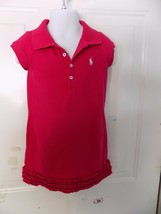 Ralph Lauren Fuchsia Ruffle Dress Size 4/4T Girl's EUC - $15.60