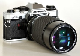 Olympus OM10 35mm SLR Camera w OM 70-200mm f/3.8 MC by Vivitar 4 Students - $59.00