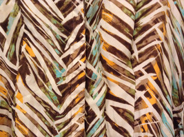 Jones New York Women's Size 16 Silk Blend Shirt Multi Color Paint Print w/ Sash image 4