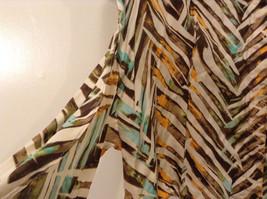 Jones New York Women's Size 16 Silk Blend Shirt Multi Color Paint Print w/ Sash image 5