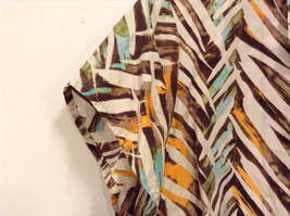 Jones New York Women's Size 16 Silk Blend Shirt Multi Color Paint Print w/ Sash image 6