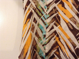 Jones New York Women's Size 16 Silk Blend Shirt Multi Color Paint Print w/ Sash image 9