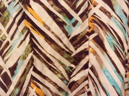 Jones New York Women's Size 16 Silk Blend Shirt Multi Color Paint Print w/ Sash image 8