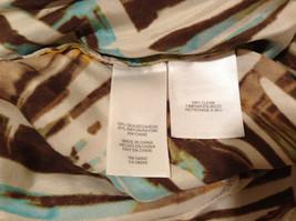 Jones New York Women's Size 16 Silk Blend Shirt Multi Color Paint Print w/ Sash image 11