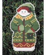 Moore Snow Folks Ornament kit christmas perforated paper cross stitch kit - $5.40